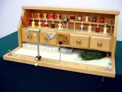 The Hall Meadow Table Top Fly tying Desk available at Traditional Angler