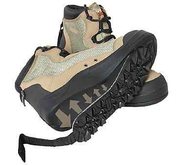 Korkers Wetlands Konvertible Wading Shoes with OmniTrax Technology are available at Traditional Angler